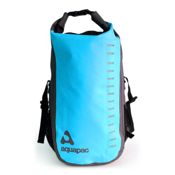 Blauwe waterdichte rugtas Aquapac 28 liter